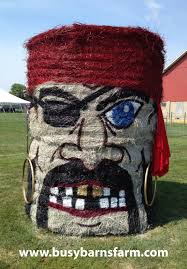 Outdoor Halloween Decorations With Hay by Busy Barns Farm Pirate Round Bale Art Round Bale Art Pinterest