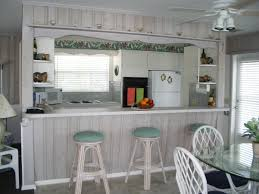 white beach house kitchen home christmas decoration with