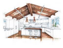 vaulted ceiling kitchen lighting extension layout plan ideas