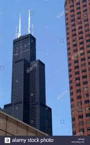 Sears Tower by The Sears Tower Willis In Chicago Stands 1 450 Feet And 110