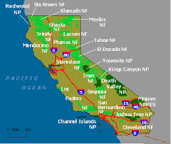 california map national parks wildernet california national forests parks
