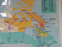Air Berlin Route Map by First Air Economy 737 200 From Resolute To Iqaluit Canada