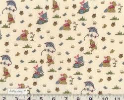 winnie the pooh u0026 tigger quilting fabric sewing toile trellis