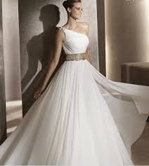 one shoulder wedding dress 2012 discount one shoulder wedding gown featured ruching chiffon a