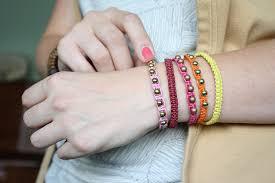 diy beaded cord bracelet images Diy hemp bracelet tutorial the alison show jpg