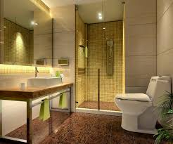 stylish bathroom shower idea with clear glass door also square