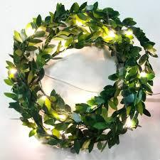 30 leds leaf diy wreath garland battery operate copper led