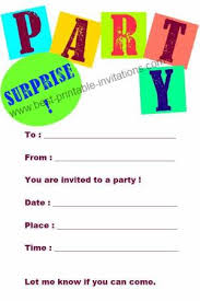 free printable surprise birthday invitations printable invitations