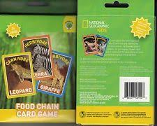 national geographic food chain card 36 animals flash
