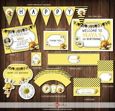 printable party maya bee birthday invite printable party