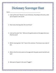 free dictionary worksheets with answer keys rachel lynette