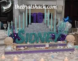 sweet 16 candelabra aqua sweet 16 decorations
