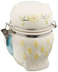 Owl Canisters by Amazon Com Boston Warehouse Hinged Jar With Floral Owl Design