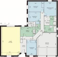 plan de maison plain pied 4 chambres avec garage plan de maison en l gratuit awesome idee contemporary