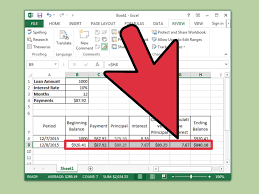 Mortgage Spreadsheet Template How To Prepare Amortization Schedule In Excel 10 Steps