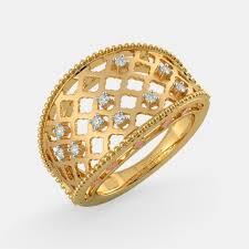 buy gold rings images Bluestone gold rings rings buy 1650 ring designs online in india png