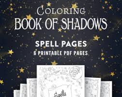coloring book shadows book spells pdf shadow book candle