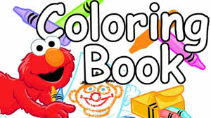 coloring book u0027s color elmo sesame street learning games