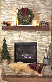 fireplace decorations ls and green leaves with silver