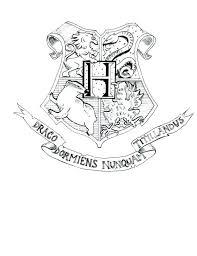 harry potter coloring pages pdf hogwarts crest headed dog