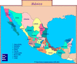 mexico map states of mexico