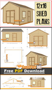 Floor Plans For Sheds 12x16 Shed Plans Gable Design Pdf Download Construct101