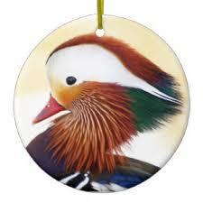 mandarin duck ornaments keepsake ornaments zazzle