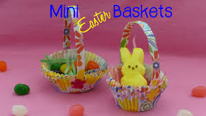 Easter Decorations For Cheap by Diy Mini Easter Baskets Kids Easter Craft Youtube