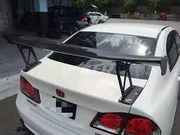honda civic spoiler brake light js racing aluminium bracket 270mm carbon spoiler for honda civic