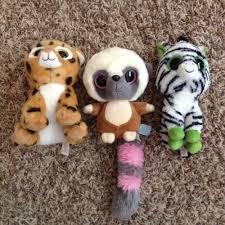lot 3 ty beanie boos babies freckles cheetah lemur zig zag