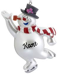 frosty the snowman skating personalized ornament