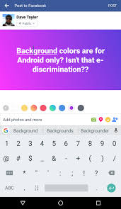 text backgrounds for android how can my updates a color background ask dave