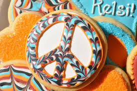 peace sign retro cookie designs with royal icing how to a