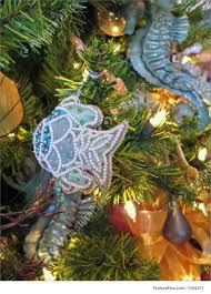photo of ocean themed christmas tree