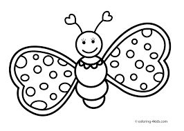 butterfly coloring pages cute for kids printable free inside
