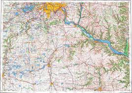 Map Of Minneapolis Download Topographic Map In Area Of Minneapolis St Paul