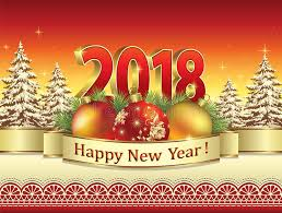 merry and happy new year 2018 against the background