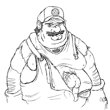 gangster mario luigi drawings