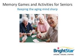 memory and activities for seniors