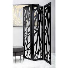 5 ft 11 in dark brown 4 panel room divider 81696 the home depot