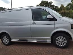 volkswagen van side vw t5 rounded ends with step pads stainless steel side bars for
