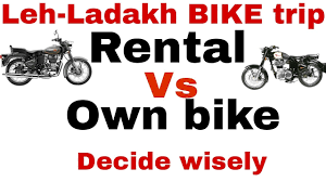 rent a motocross bike rented vs own bike for your leh ladakh trip hindi youtube