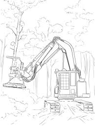 feller buncher coloring free printable coloring pages