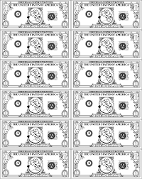dollar bill coloring sheet alltoys for