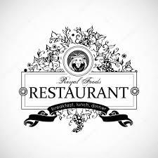 monogram design for restaurant luxury logo template for