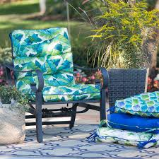 Coast Outdoor Furniture by Coral Coast Curious Tropical Bird Outdoor High Back Chair Cushion