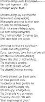 hymn and gospel song lyrics for christmas brings joy to every