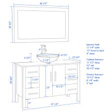 bathroom vanities height vessel sinks thedancingparent com