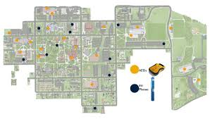 Michigan Stadium Parking Map Michigan Map by Hope College Campus Safety