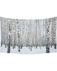 Birch Tree Decor Fall Savings On Gckg Birch Tree Tapestry Horizontal Wall Hanging